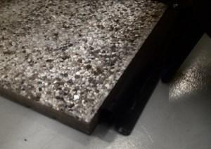 Piastre in cemento come zavorra per il gazebo
