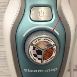 Seleziona la modalità di erogazione vapore di Steam Mop Black & Decker