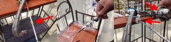 Il comando del tappo saltarello del rubinetto con miscelatore per lavabo o bidet