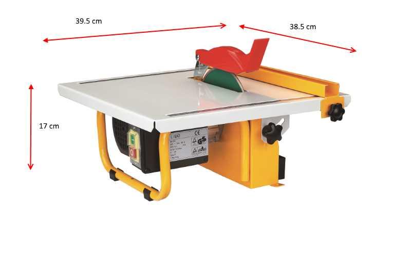 Dimensioni ed ingombro taglipiastrelle elettrica 500W