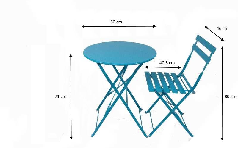 Tavolo Giardino Metallo Pieghevole.Set Da Esterno Blue Con Tavolo E Sedie Pieghevoli Prezzi E Offerte