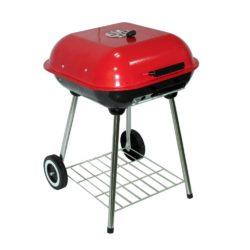 Barbecue a valigetta. Richiudibile, in colorazione rosso e nera