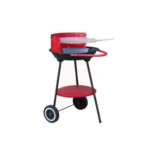 Barbecue a carbonella con ruote. Economico e funzionante
