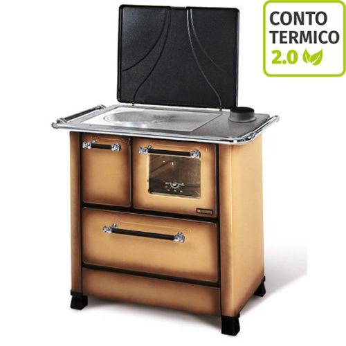 Cucina a legna Nordica Romantica 4,5 Marrone Sfumato 6 kW
