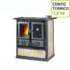Cucina a legna Nordica Rosetta Liberty Pergamena 6kW