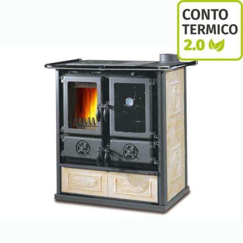 Cucina a Legna Nordica Rosetta Liberty Pergamena 6 kW