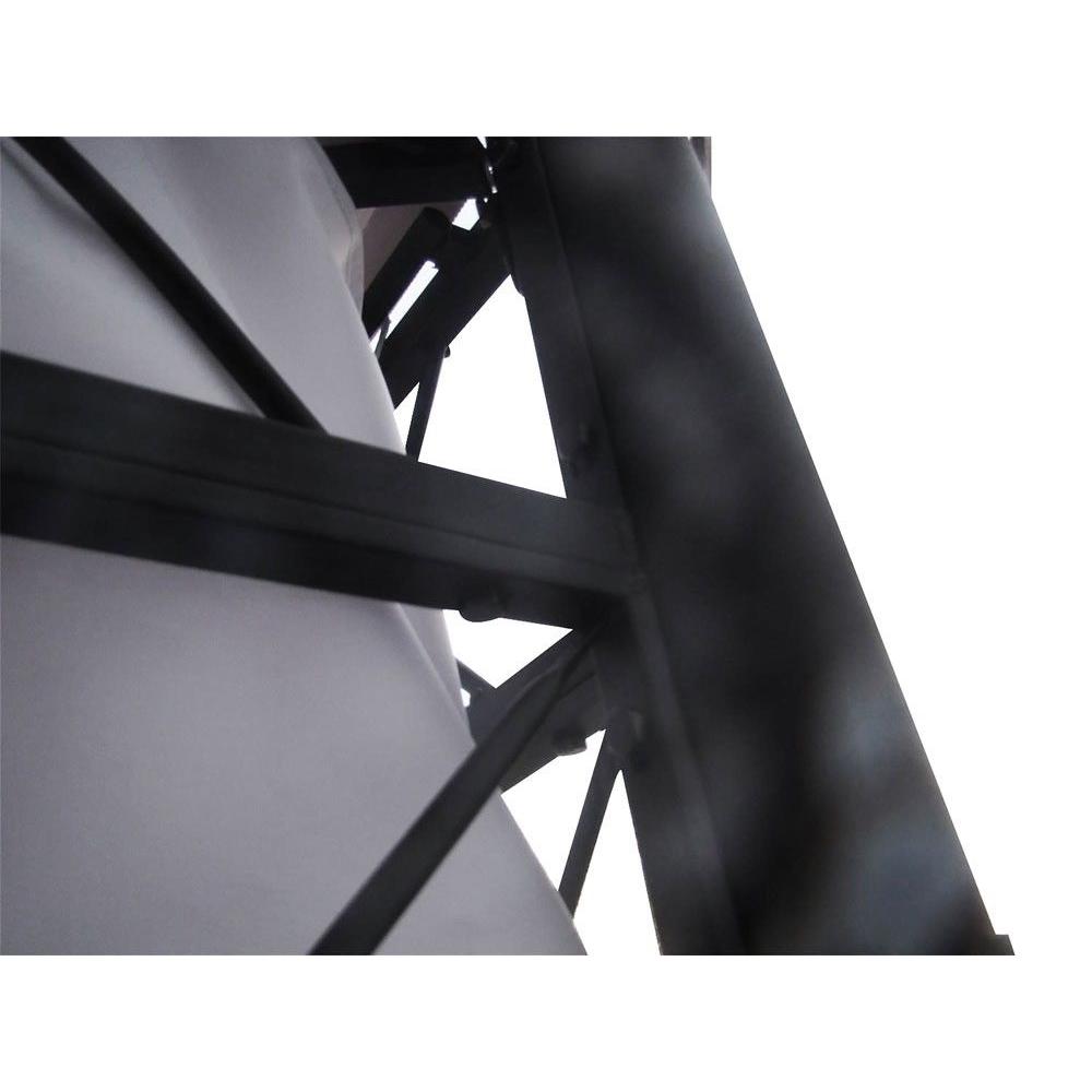 Dettaglio parte laterale gazebo super in acciaio