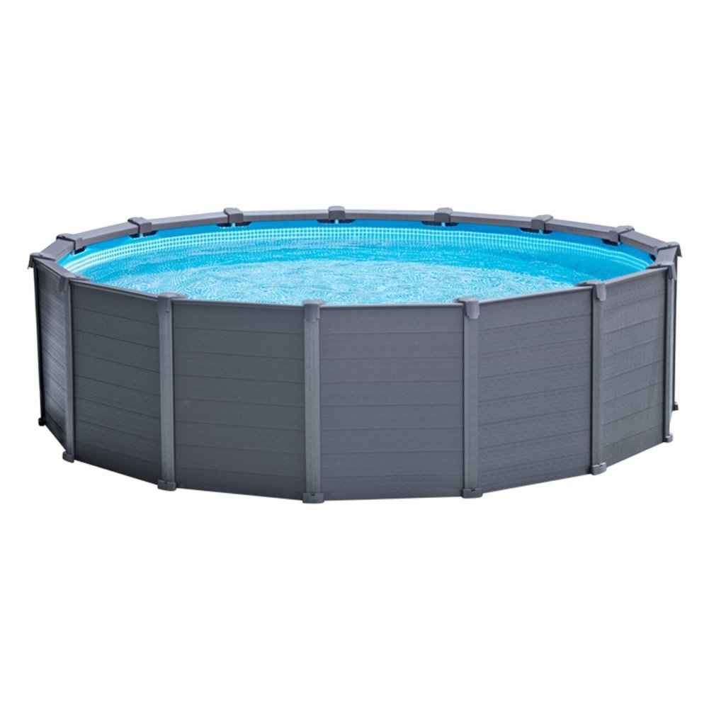 Piscina fuoriterra rigida sequoia graphite intex cm for Piscine intex graphite