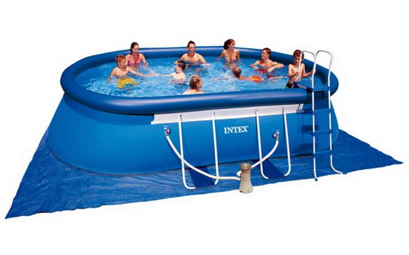 Piscina ovale intex con pompa kit prezzi for Obi pool set