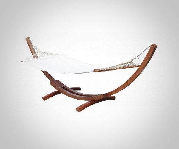 Amaca con struttura in legno sospesa indipendente