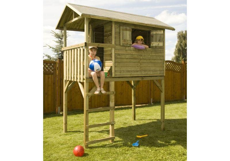 Casetta da giardino su palafitta per bambini filip for Piccoli progetti di palafitte