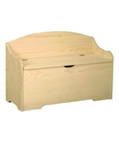 Cassapanca in legno di pino grezzo 0103S L100h50p40cm