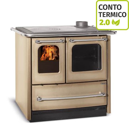 Cucina a Legna Nordica Sovrana Easy Evo Cappuccino 6.5 kW