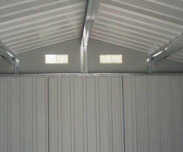 Casetta da giardino porta attrezzi in acciaio zincato APEX da esterni 3x3mt dettaglio interno