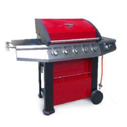 Barbecue a Gas modello Master Cook 5 fuochi, colore rosso