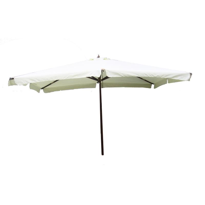 Ombrellone modello deluxe 3x4 metri bianco legno