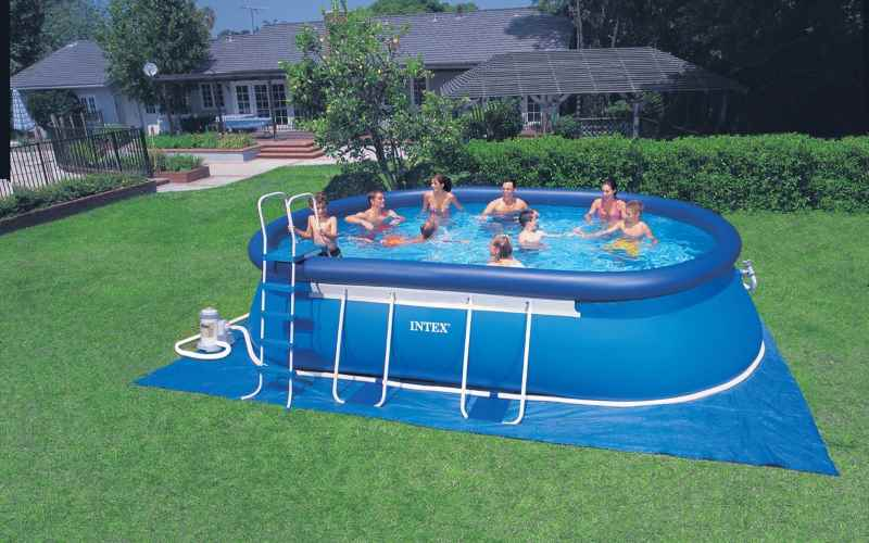 Piscina ovale intex 57982 610x366x122cm prezzi e offerte for Piscine intex autoportee ovale