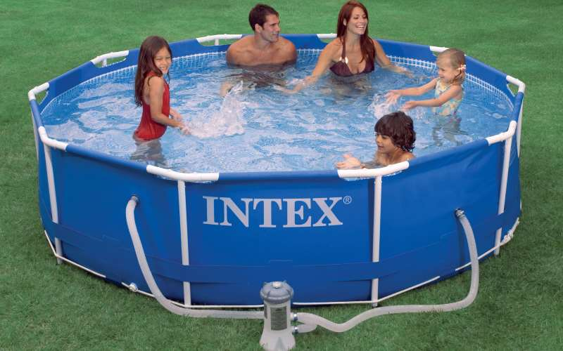 Piscina intex metal frame rotonda prezzi e offerte for Piscina intex rotonda