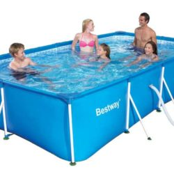 Intex piscina fuori terra prisma 400x200x100 struttura for Piscina fuori terra 400x200x100