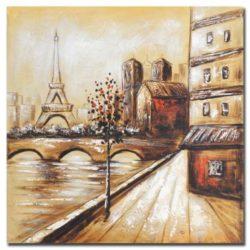 quadro-ad-olio-dipinto-mano-paesaggio-parigi-60x60x3