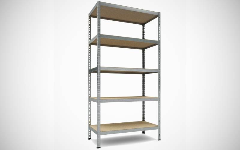 Scaffale componibile in legno e metallo 5 ripiani TKT : Prezzi e Offerte