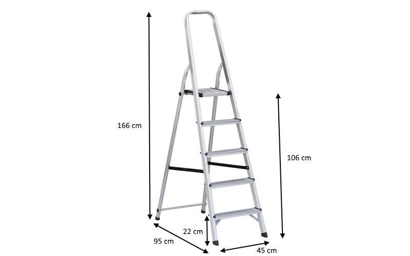 Scala in alluminio 5 scalini prezzi e offerte for Radiatori in alluminio prezzi e offerte