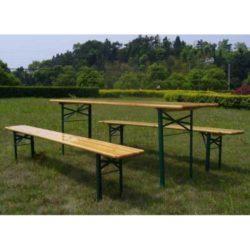 Set birreria stelvio tavolo e 2 panche richiudibili in for Set birreria offerta
