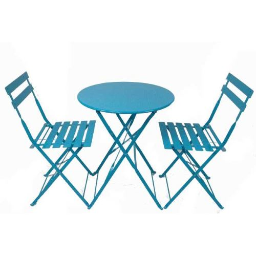 Set da esterno blue con tavolo e sedie pieghevoli prezzi for Sedie acciaio e legno