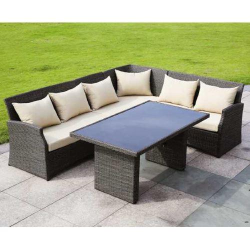 Salotto da esterno raffaello con divano ad angolo e tavolino prezzi e offerte - Divano ad angolo prezzi ...