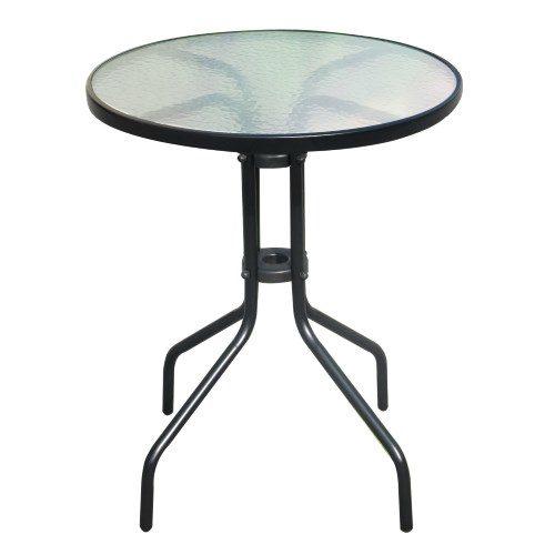 Tavolo per Pink Set in metallo e vetro temperato