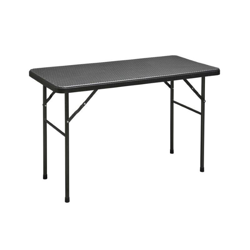 Tavoli Pieghevoli Alluminio Offerte.Tavolo Pieghevole 120 60 Stile Rattan Prezzi E Offerte