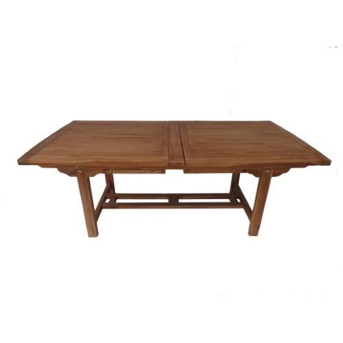 Tavolo in legno teak gigante di forma rettangolare