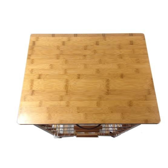 Carrello da cucina in legno di bambù con cassetto e 3 cesti : Prezzi ...