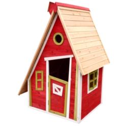 Casetta in legno per bambini da giardino tetto inclinato rosso PETER