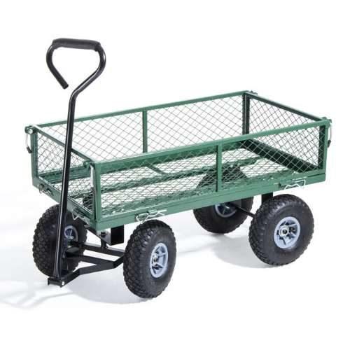 Carrello Multiuso da giardino Utility con 4 ruote e portata max 150kg.