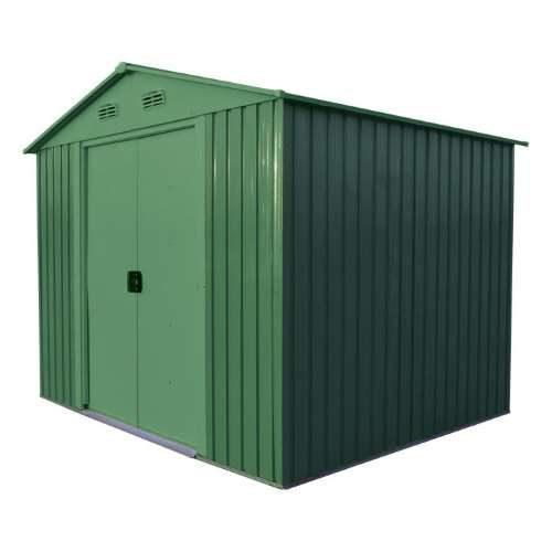 Casetta box metallo lamiera verde da giardino