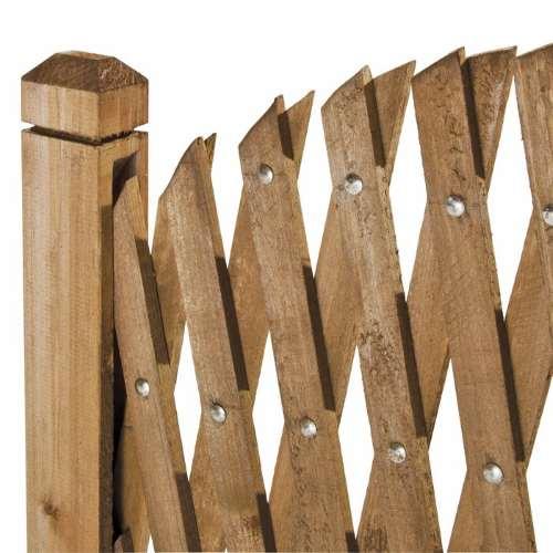 particolare del montante in legno del grigliato flessibile Flexy