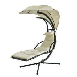 Amaca sospesa Dream Chair con struttura in ferro e imbottitura in tessuto