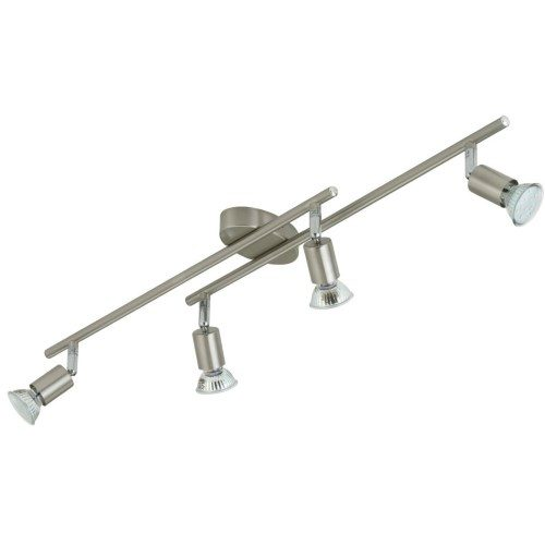 Applique barra a led 4 faretti GU10 nickel