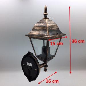 Misure della lampada da esterno in alluminio Praga colorazione rame