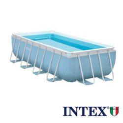 Intex Piscina Fuori Terra Prism Struttura Rigida+Pompa Filtro+ Scaletta Doppia+ Telo Base-Copertura