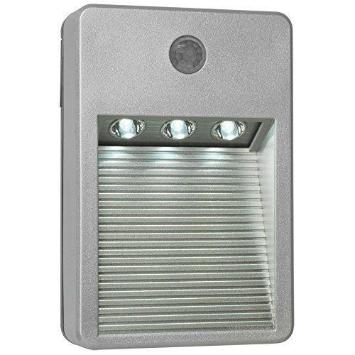 Luce a LED da esterno 3 LED argento