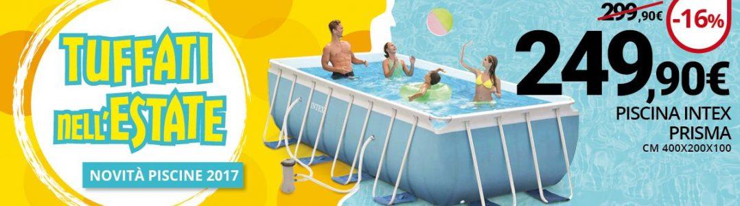 Banner sulla promozione della piscina prisma 400x200. Scontata a 249 euro