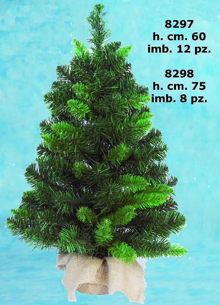 Albero di natale pinetto con base juta 60 cm prezzi e for Offerte alberi di natale