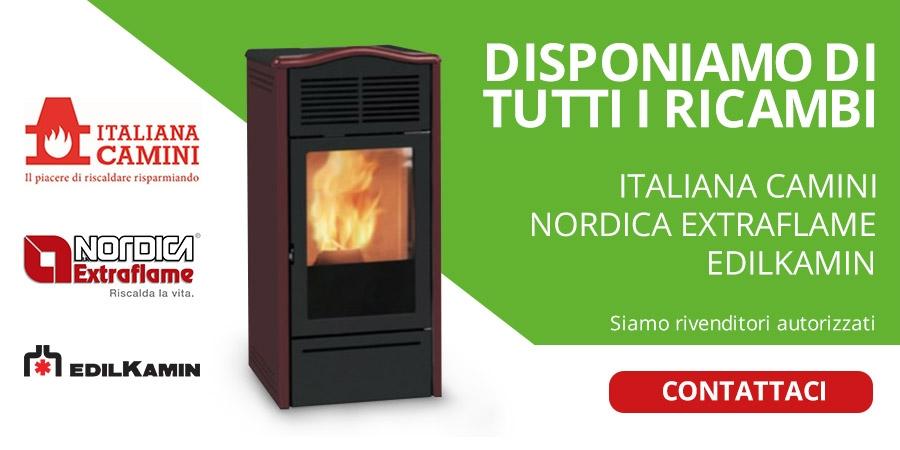 Banner Ricambi stufe nordica italiana camini edilkamin sono tutti disponibili