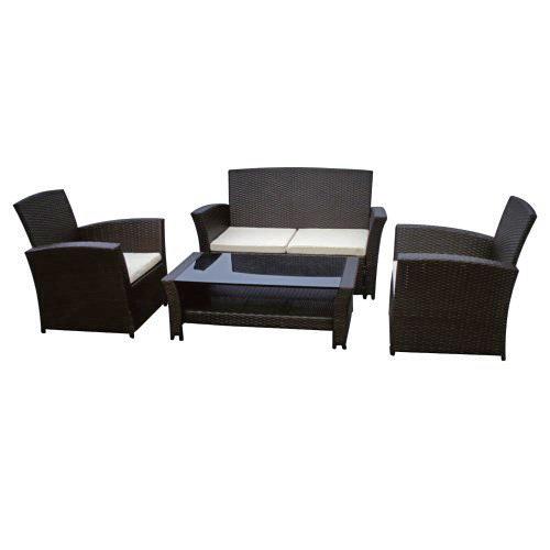 Salotto da esterno in ecorattan brown prezzi e offerte for Offerte tavoli e sedie da esterno