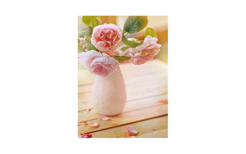 Vaso Fiori.Stampa Su Tela Vaso Di Fiori Delicato 34x46x2 Prezzi E Offerte