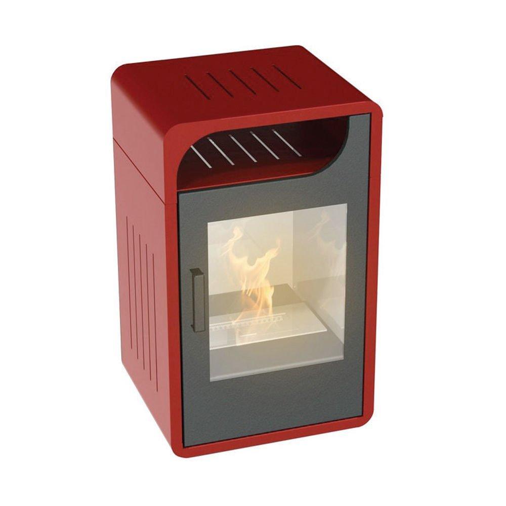 Stufa a bioetanolo 3000W statica riscaldamento 60m3 bordeaux ...