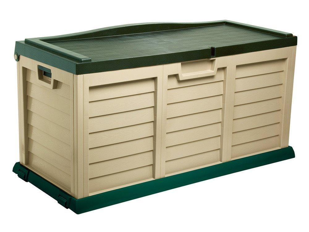 Baule in resina porta oggetti con seduta 140x61x74 - Muebles de resina para exterior ...