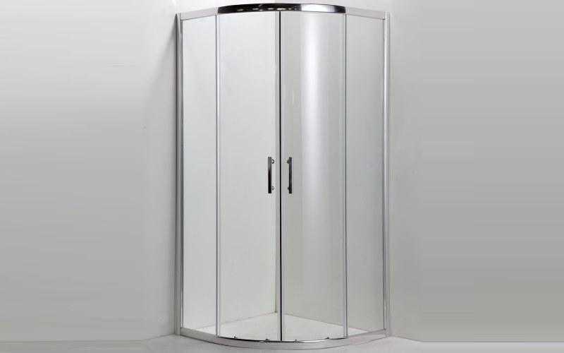 Box doccia in vetro trasparente ad angolo prezzi e offerte for Offerte box doccia